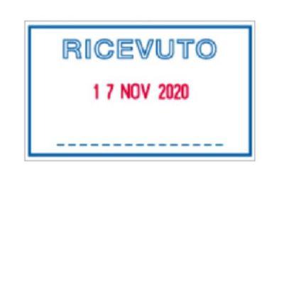 DATARIO CON PIASTRA - DICITURA COMMERCIALE 5460/L1 RICEVUTO