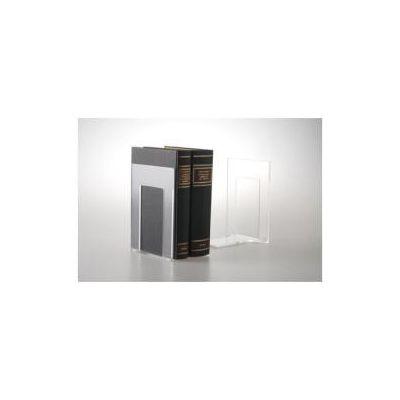 Coppia di Reggilibri Linea Mr Acrylic trasparente -- 14x9x13 5 cm  in acrilico per visualizzare il contenuto (conf.2)