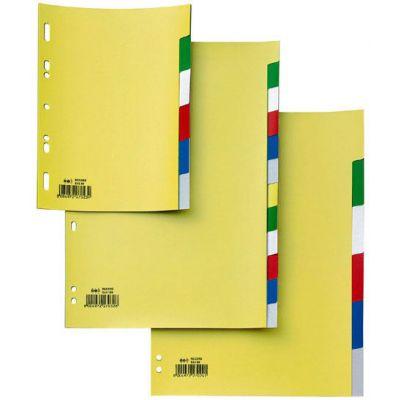 INTERCALARE RECORD S A4 SCRIVIBILE 6 TACCHE NEUTR COLOLATO 22X30      PP - FORATURA UNIVERSALE (FORMATO MAXI)