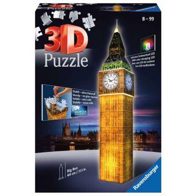 PUZZLE 3D RAVENSBURGER BIG BEN NIGHT EDITION 216PZ
