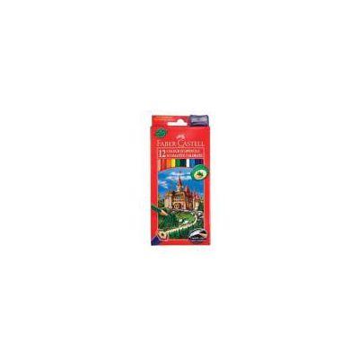 ECO Matite colorate il Castello con fusto legno naturale da riforestazione fino a 12 colori permanenti (conf.12)