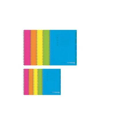 CF5 Quaderno spiralato Fluo A4 120 fg 70 gr  1 RIGO