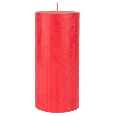 Candele pillar 7x15 cm stearina Rosso