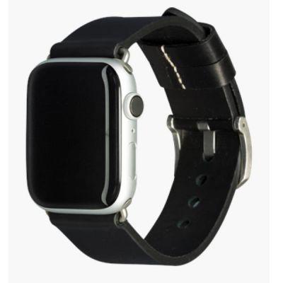 Cinturino per Apple Watch in Pelle Bornholm - 44mm - Black/silver