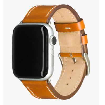 Cinturino per Apple Watch in Pelle Copenhagen - 44 mm - Tan/silver