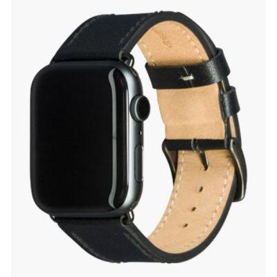 Cinturino per Apple Watch in Pelle Copenhagen - 44mm - Black/space