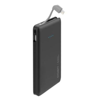 ChargeUp Pocket 8 000 mAh 31A Lightning Cable - Black