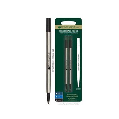 Blister 2 refill in metallo per ROLLER Parker ® NERO PUNTA FINE