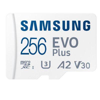 MICRO SD 256GB XC  CLASSE U3  V30  A2                                 VELOCITÀ DI LETTURA-SCRITTURA FINO A  130/90 MB/S ADATTATORE SD