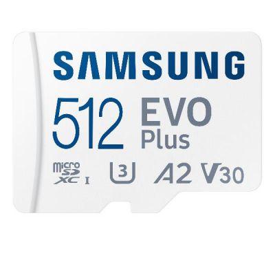 MICRO SD 512GB XC  CLASSE U3  V30  A2                                 VELOCITÀ DI LETTURA-SCRITTURA FINO A  130/90 MB/S ADATTATORE SD