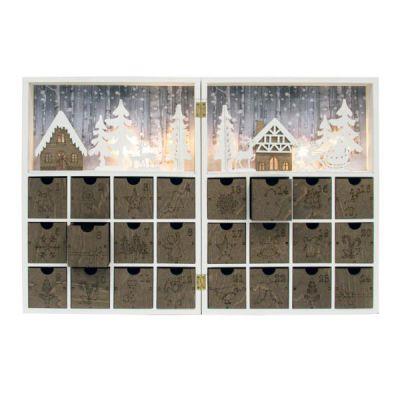 Calendario avvento legno