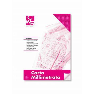 BLOCCO CARTA MILLIMETRATA CWR A4 50 FG