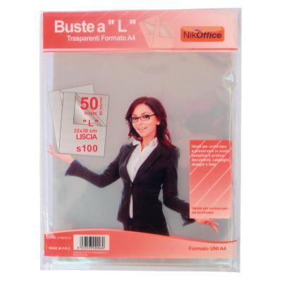 """BUSTE A """"L"""" NIKOFFICE S100 LUCIDE 22 CM X 30 CM 50 PZ"""