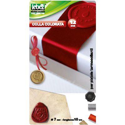 COLLA A CALDO 7 MM ROSSO/NERO LEBEZ 80426